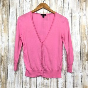 J Crew Cardigan Pink Cotton Lightweight Delicate